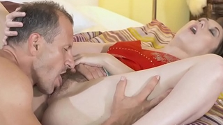 MOM Beautiful natural woman with hairy pussy gets creampie meet approval hot 69
