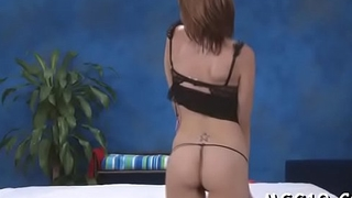 Tanned sweetie enjoys rod ride