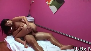 Guy cums from perverted massage