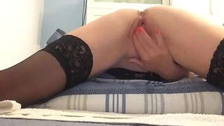Watch me rub and finger fuck my wet pussy