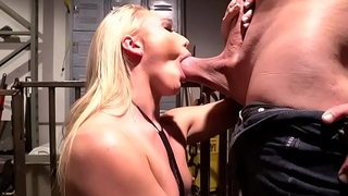 AJ Applegate face pounded by huge rod