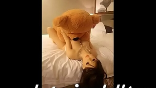 SEXDOLL FUCKED HARD BY  GIANT TEDDY Keep to