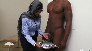 Darksome ramrod bangs arab babe