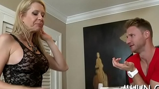 Orgasms satisfy ribald and sexy milf