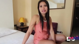 Hot asian newborn got stuffed hard in doggy style