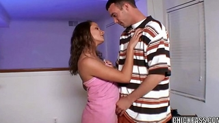 Brunette coed Alex Dupuis takes some dick from her neighbor