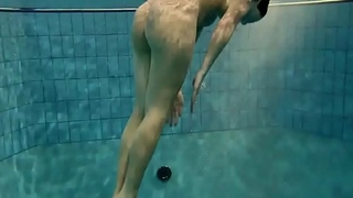 Teen loses her panties underwater