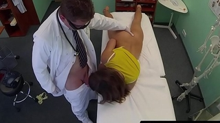 Young euro assfucked and creamed by doctor